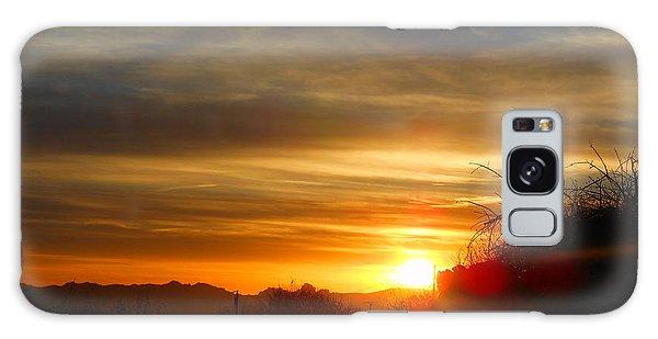 Sunset In Golden Valley Galaxy Case