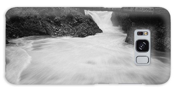 The Soteska Vintgar Gorge In Black And White Galaxy Case