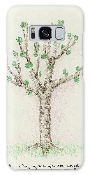 4 Trees-3rd Tree Spring Galaxy Case