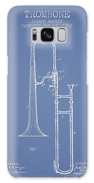 Trombone Galaxy S8 Case - Trombone Patent From 1902 - Light Blue by Aged Pixel