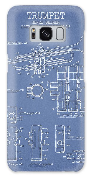 Trumpet Galaxy S8 Case - Trumpet Patent From 1939 - Light Blue by Aged Pixel