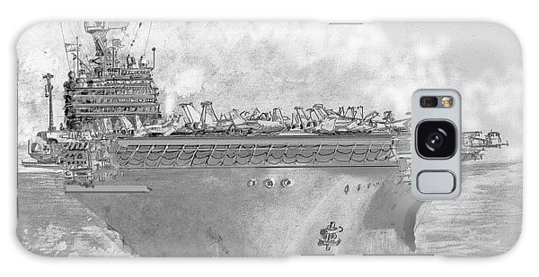 Usn Aircraft Carrier Abraham Lincoln Galaxy Case by Jim Hubbard