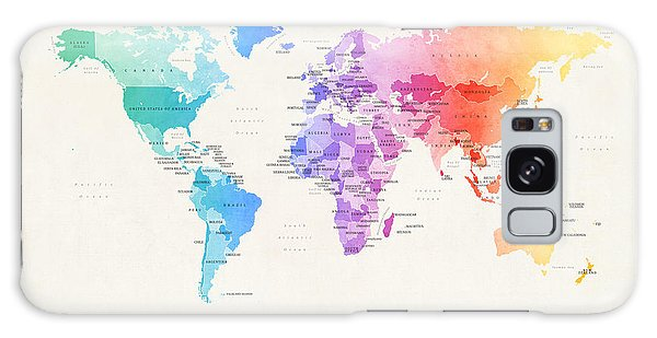 Watercolour Political Map Of The World Galaxy Case