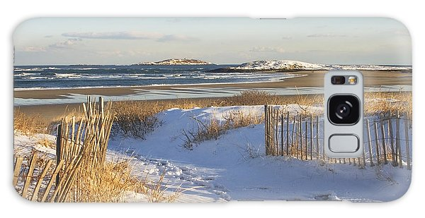 Winter At Popham Beach State Park Maine Galaxy Case by Keith Webber Jr