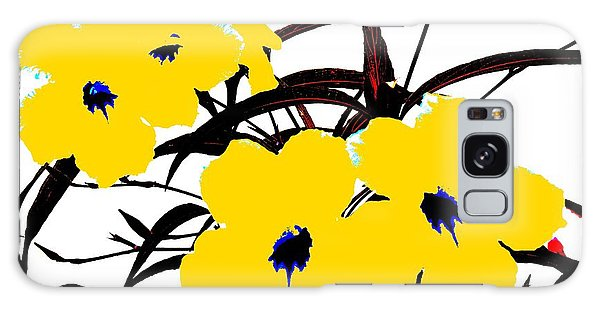 Galaxy Case featuring the digital art 4 Yellow Jacks by David Clark
