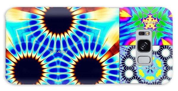 Galaxy Case featuring the digital art 432hz Cymatics Grid by Derek Gedney