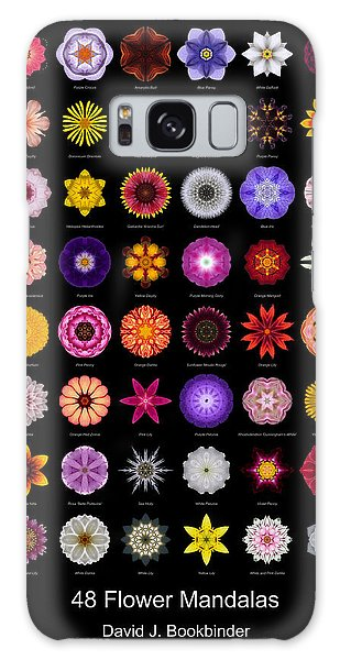48 Flower Mandalas Galaxy Case