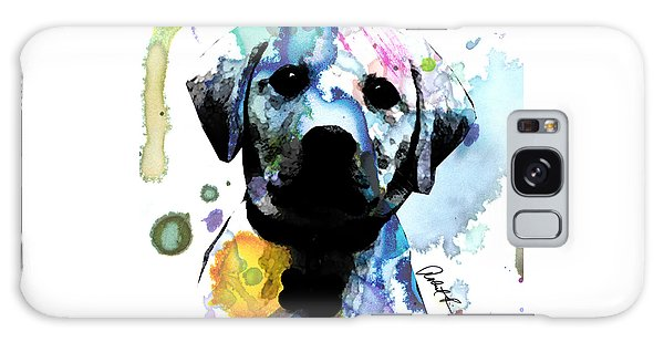 48x44 Labrador Puppy Dog Art- Huge Signed Art Abstract Paintings Modern Www.splashyartist.com Galaxy Case