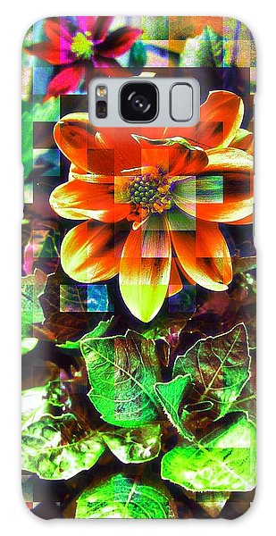 Abstract Flowers Galaxy Case