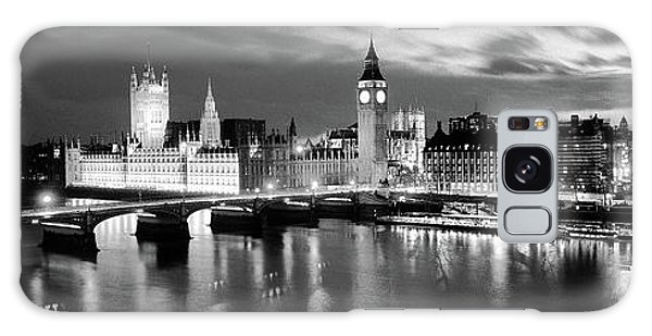 London Eye Galaxy Case - Buildings Lit Up At Dusk, Big Ben by Panoramic Images
