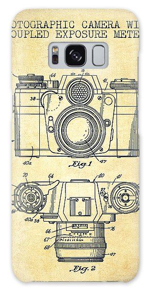 Vintage Camera Galaxy Case - Camera Patent Drawing From 1962 by Aged Pixel