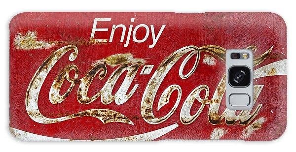 Coca Cola Vintage Rusty Sign Galaxy Case by John Stephens