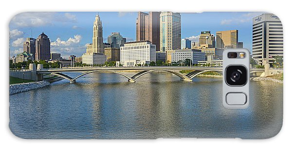 Fx1l-802 Columbus Ohio Skyline Photo Galaxy Case