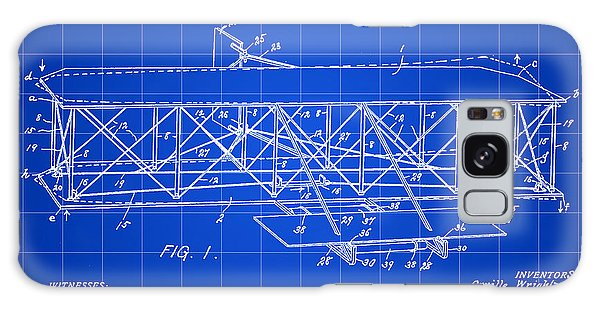 Flying Machine Patent 1903 - Blue Galaxy Case by Stephen Younts
