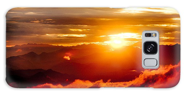 Golden Sunset Himalayas Mountain Nepal Galaxy Case