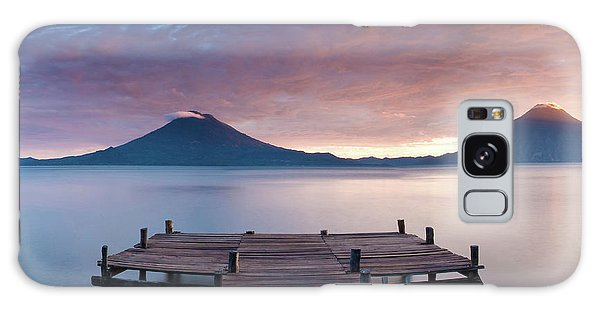 Cloudscape Galaxy Case - Jetty In A Lake With A Mountain Range by Panoramic Images