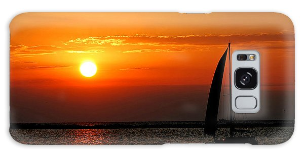 Lake Erie Sunset  Galaxy Case by Lila Fisher-Wenzel