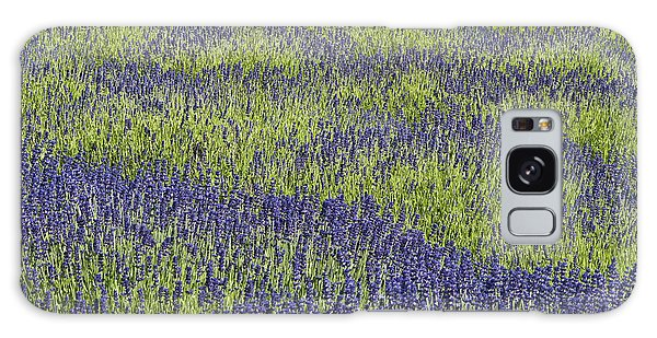 Lavendar Field Rows Of White And Purple Flowers Galaxy Case