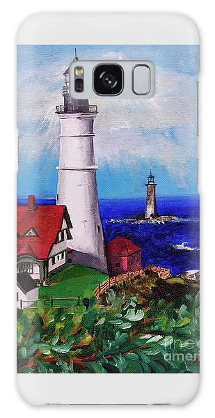 Lighthouse Hill Galaxy Case by Linda Simon
