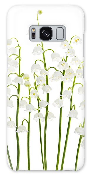 Lily Galaxy Case - Lily-of-the-valley Flowers  by Elena Elisseeva