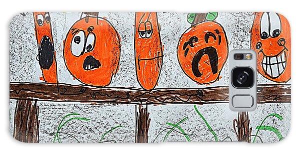 5 Little Pumpkins Galaxy Case