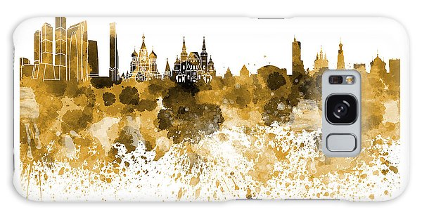Moscow Skyline Galaxy S8 Case - Moscow Skyline White Background by Pablo Romero