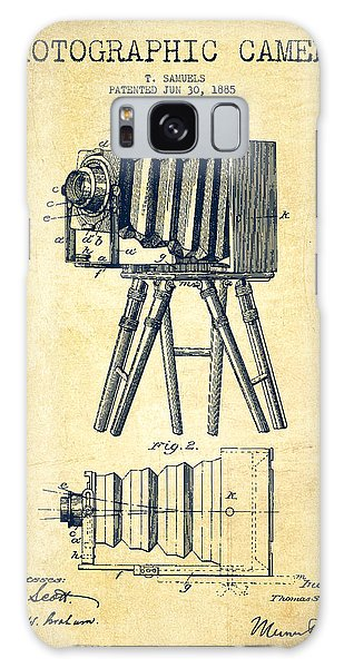 Vintage Camera Galaxy Case - Photographic Camera Patent Drawing From 1885 by Aged Pixel