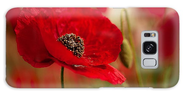 Red Galaxy Case - Poppy Dream by Nailia Schwarz