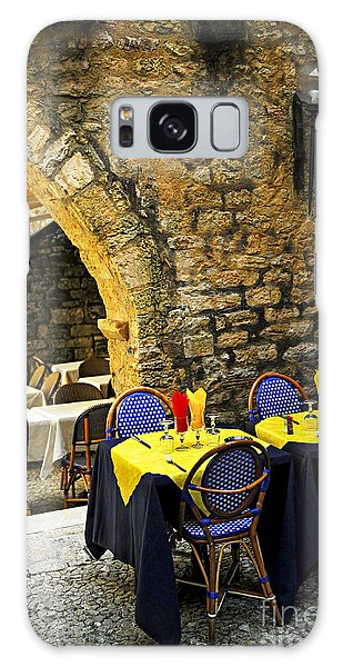 Outdoor Dining Galaxy Case - Restaurant Patio In France by Elena Elisseeva