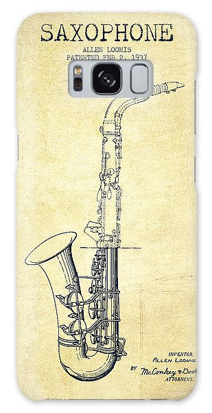 Saxophone Patent Drawing From 1937 - Vintage Galaxy Case by Aged Pixel