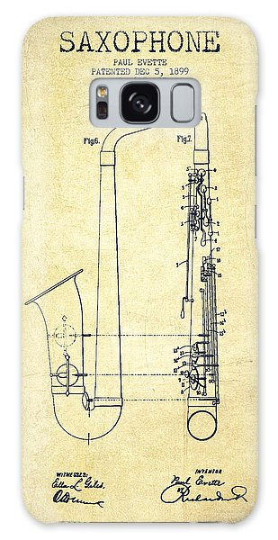 Saxophone Patent Drawing From 1899 - Vintage Galaxy Case by Aged Pixel