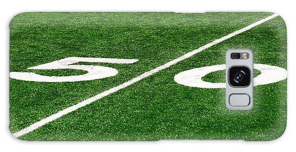 50 Yard Line On Football Field Galaxy Case