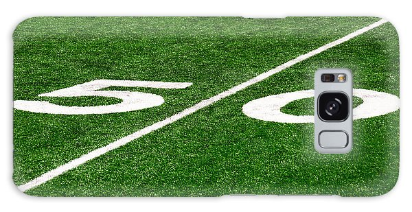50 Yard Line On Football Field Galaxy Case by Paul Velgos