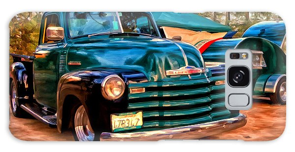 '51 Chevy Pickup With Teardrop Trailer Galaxy Case by Michael Pickett