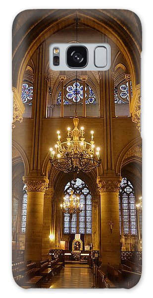Architectural Artwork Within Notre Dame In Paris France Galaxy Case