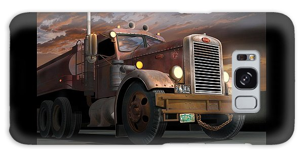 Semis Galaxy Case - '55 Peterbilt Sunset by Stuart Swartz