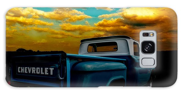 56 Chevy Truck And The Lake Canyon Sunset Galaxy Case