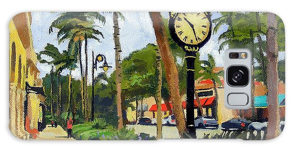 Heron Galaxy S8 Case - 5th Avenue Naples Florida by Christine Hopkins