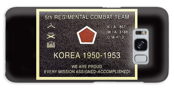 5th Regimental Combat Team Arlington Cemetary Memorial Galaxy Case