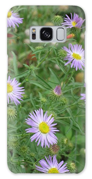 6 Asters Left Galaxy Case