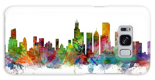 City Scenes Galaxy S8 Case - Chicago Illinois Skyline by Michael Tompsett
