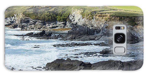 Cornish Seascape Gunwalloe Galaxy Case