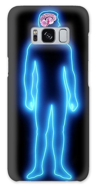 Brainstem Galaxy Case - Human Brain by Alfred Pasieka/science Photo Library