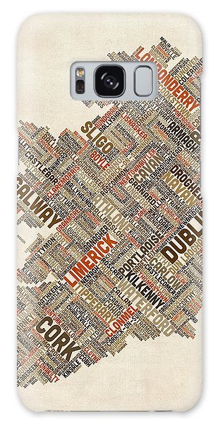 Text Map Galaxy Case - Ireland Eire City Text Map by Michael Tompsett