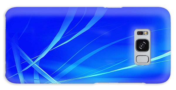 Modern Blue Abstract Galaxy Case