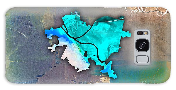 Pittsburgh Map Watercolor Galaxy Case