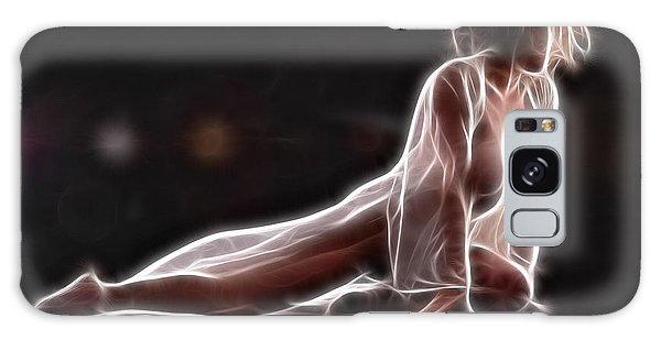 6124 Glowing Fractal Woman Dancing Galaxy Case