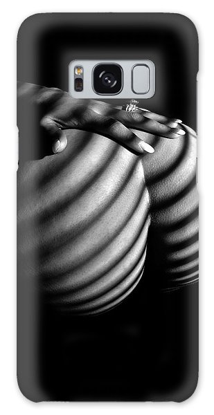6747 Zebra Woman Nude Stripe Series   Galaxy Case by Chris Maher