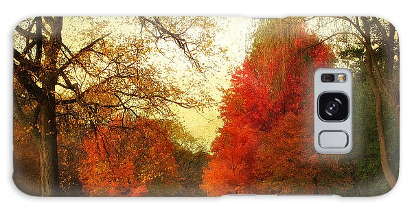 Galaxy Case featuring the photograph Autumn Promenade by Jessica Jenney