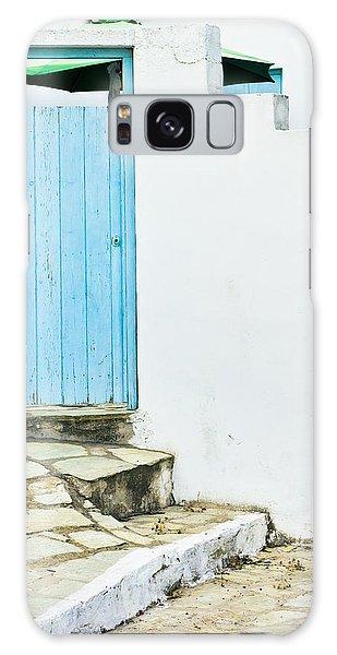 Door Galaxy Case - Blue Door by Tom Gowanlock